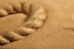 Free Sand And Rope Royalty Free Stock Photography - 18899267