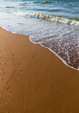 Sand And Wave Royalty Free Stock Photo