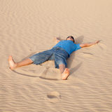 Sand angel Stock Photography