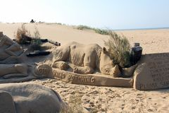 Sand art Stock Photo