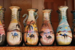 Sand art in the bottle Royalty Free Stock Photography