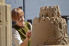 Sand art castle sculpture Turku Stock Photo