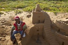 Sand art, Durban Stock Image