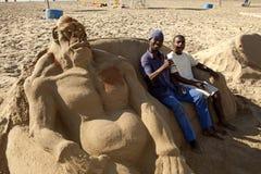 Sand art, Durban Royalty Free Stock Photos