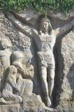 Sand art of Jesus Christ Stock Images