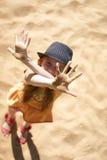 Sand auf den Palmen Stockfotografie