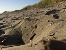 Sand auf meinen Füßen Stockfoto