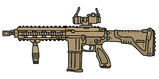 Sand automatic gun Royalty Free Stock Photos