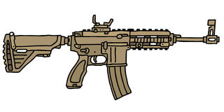 Sand automatic guns Stock Image