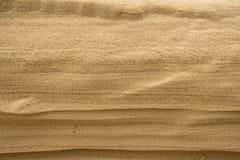 Sand av en strand med modeller arkivfoto