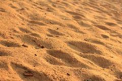 Sand av havet Arkivbilder