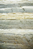 Sand Background Texture. A close up on layers of sand on an eroding cliff face Royalty Free Stock Photo