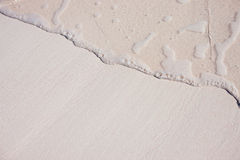 Sand background with wave Stock Image