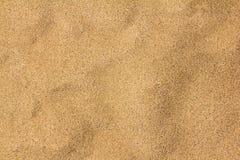 Sand background. Yellow textured beach desert empty sand background Stock Image