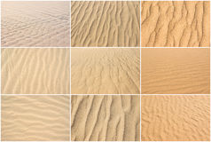 Sand backgrounds collection set Royalty Free Stock Image