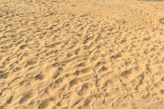 Sand backgrounds and texture with Footprints. at sam pam bok, Ub Stock Image