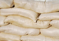 Sand bag barrier Stock Photography
