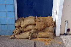 Sand bags Royalty Free Stock Photo