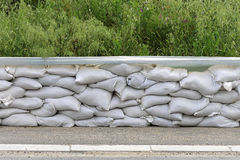Sand bags Stock Photo