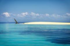 Sand-Bank des Indischen Ozeans stockfoto