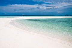Sand bank in Maldives Stock Photos