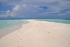 Sand Bar in the Maldives Royalty Free Stock Photo