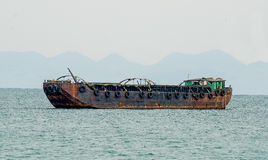 Sand barge boat Royalty Free Stock Image