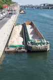 Sand barge in Paris Royalty Free Stock Image