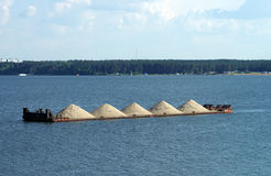 Sand barge Stock Images