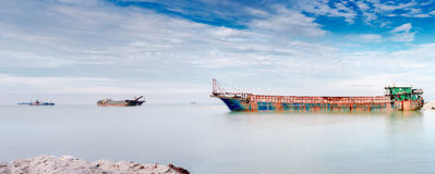 Sand Barges Royalty Free Stock Images