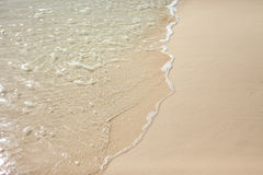 Sand and beach. Great beach, view of clear water Stock Images