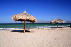 Sand beach. Beach near the town of Loreto in baja california sur, mexico Stock Image