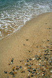Sand on beach. Sand on Eagean sea beach Stock Photos