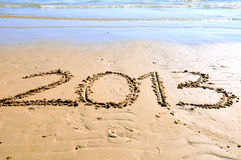 2013 on the sand Royalty Free Stock Photo