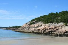Sand Beach, Acadia National Park, Maine. Scenic view of Sand Beach, Acadia National Park, Maine Stock Photo