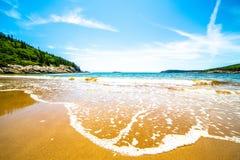 Sand Beach, Acadia National Park, Maine, USA royalty free stock photo
