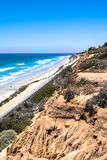 Sand beach along Del Mar coast, California Stock Photos