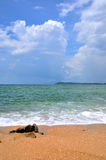 Sand Beach And Sea Stock Photography
