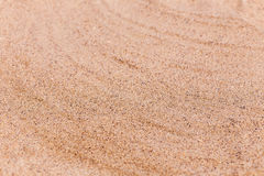 Sand on the beach as background with space for the text. Sea travel and holiday. Stock Images