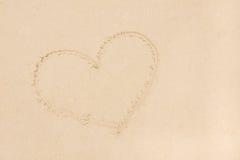 Sand beach as heart shape Royalty Free Stock Photo