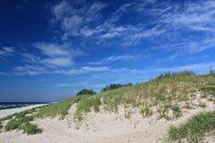 Sand beach of the Baltic Sea coast. Stock Photos