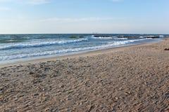 Sand beach of the Baltic Sea coast. Royalty Free Stock Photos
