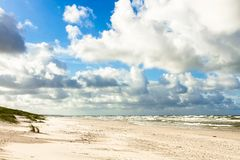 Sand beach on Baltic sea Stock Images