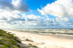 Sand beach on Baltic sea Royalty Free Stock Images