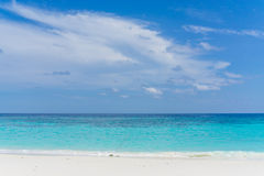 Sand and beach with blue sky, Lipe island Stock Images