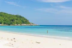 Sand and beach with blue sky, Lipe island Royalty Free Stock Image
