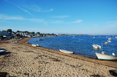 Sand Beach and Boats Stock Photography
