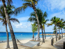 Sand Beach in Bonaire Royalty Free Stock Photography