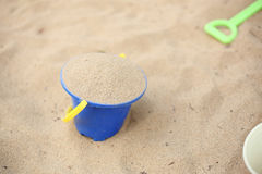 Sand beach in bucket Royalty Free Stock Photography