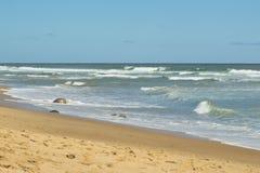 Sand at Beach on Cape Cod. MA, USA stock photo